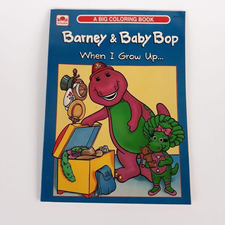 VTG Barney & Baby Bop Malbuch, wenn ich 1993 ungenutzt 3033-2 aufwachse