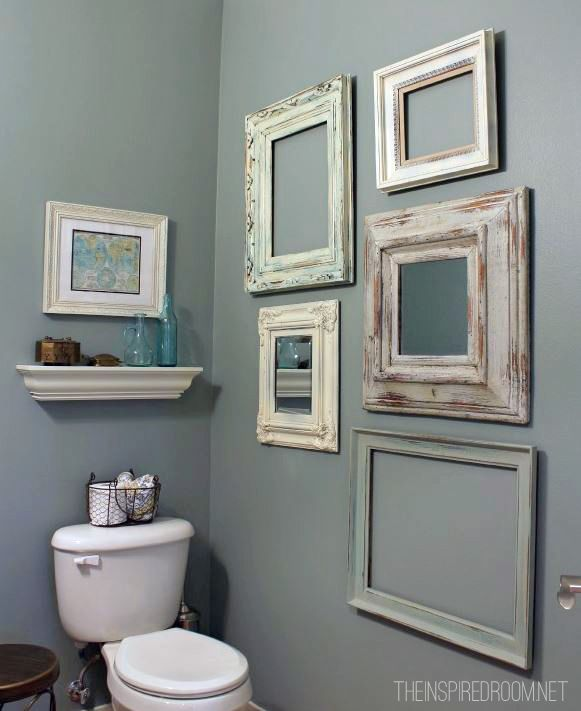 Bathroom from the inspired room colour glidden slate for Paint colors for powder rooms