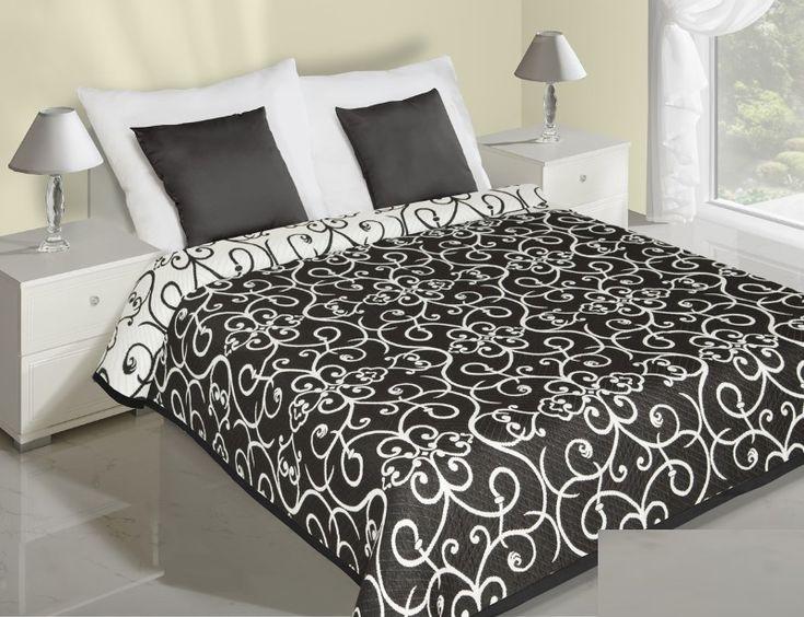 Čierno biely obojstranný prehoz so vzormi