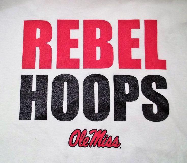 University Of Mississippi Ole Miss Hoops T-Shirt Adult XL X-Large Basketball #Gildan #OleMissRebels
