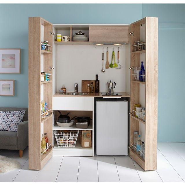 28 best Kitchenette - petits espaces images on Pinterest - amenagement placard d angle cuisine