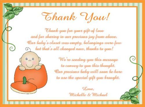 Thank You Cards For Baby Shower Party Celebrations