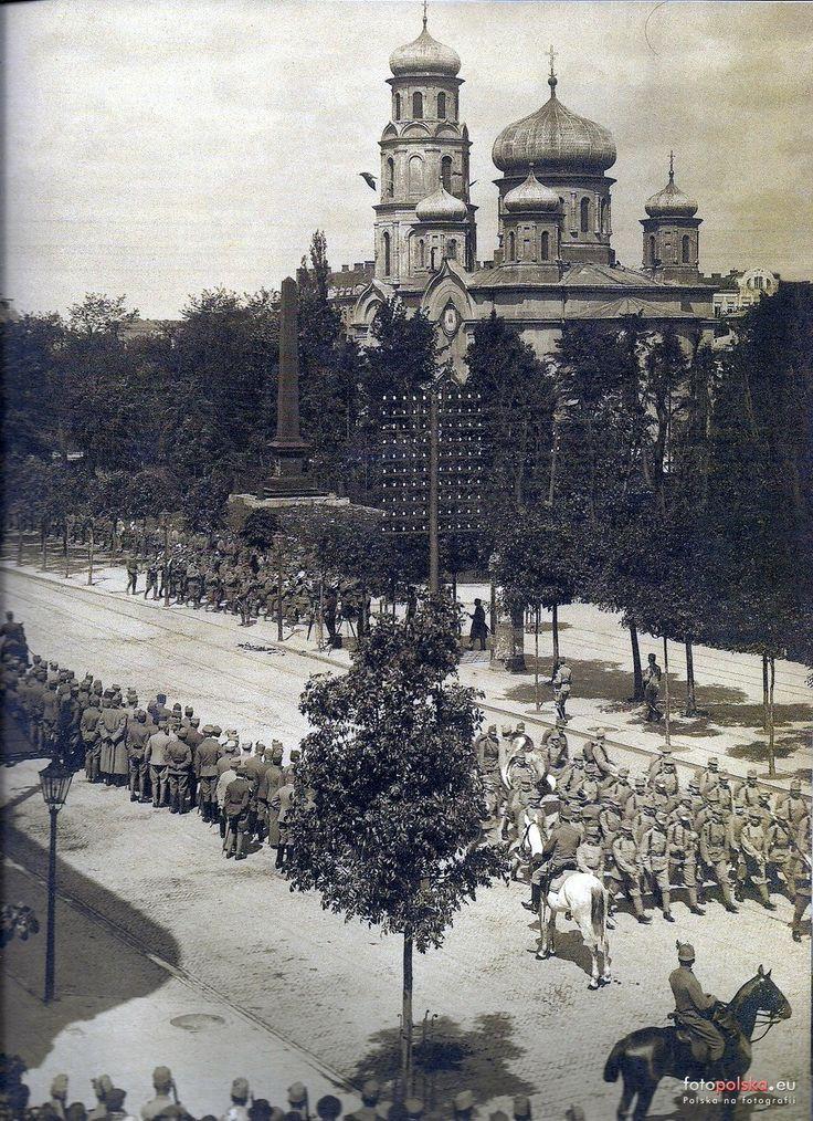 Sobór Prawosławny Podwyższenia Św. Krzyża, Lublin - 1917 rok, stare zdjęcia