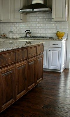 Love This Backsplash Beveled Edge Subway Tile For The Home Pinterest White Cabinets And
