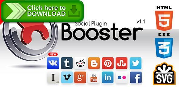 [ThemeForest]Free nulled download xBooster Social Plugin from http://zippyfile.download/f.php?id=59159 Tags: ecommerce, social network, social networking, social profile plugin, social sharing plugin, social sharing stats, social sharing with counter, svg icons, svg social icons, wordpress