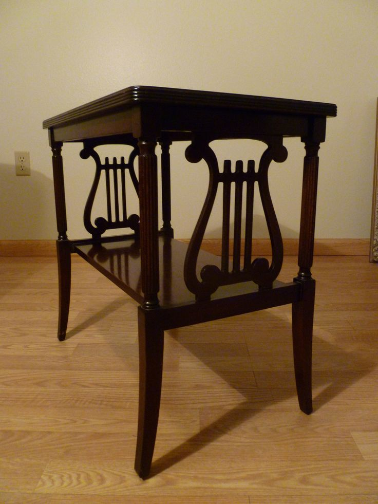 FOR SALE Duncan Phyfe Mahogany Side Table HarpLyre At Both Ends Of The Table Chair Leg Has