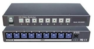 Check out S-Video Switch With Infra Red Remote Control, 8 Port.