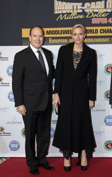 Prince Albert  and Princess Charlene  attend the Monte-Carlo Million Dollar Super Four boxing event