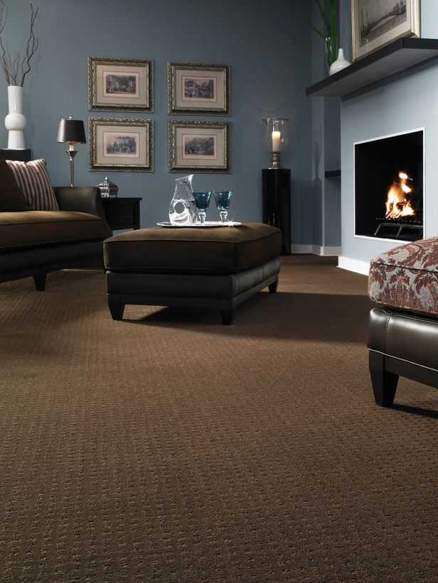 12 Ways To Incorporate Carpet In A Roomu0027s Design. Blue Living RoomsBrown ...