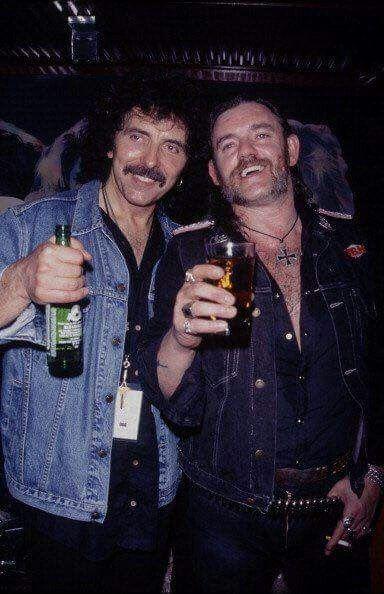 Tony Iommi and Lemmy Kilmister..........................