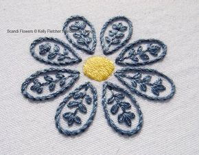 Scandi Flowers hand embroidery pattern, modern embroidery, floral embroidery, embroidery patterns, embroidery PDF, PDF pattern