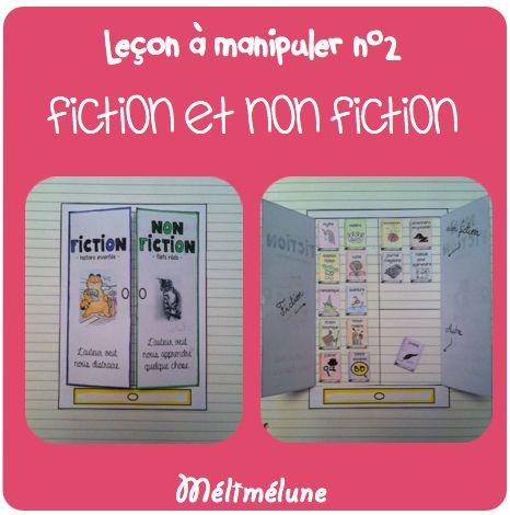cahier interactif lecture - fiction vs non fiction
