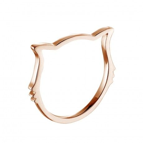 Agrandir Bague Miaou - Or rose 18 cts 1