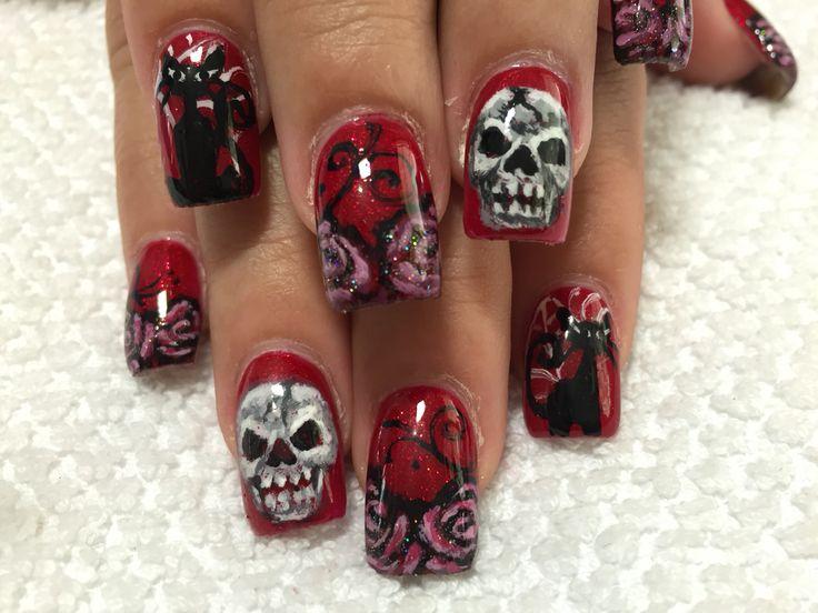 Skulls roses and kitties