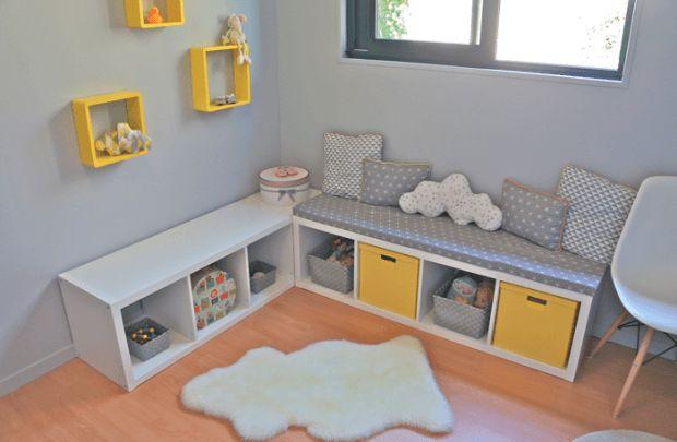 17 meilleures id es propos de rangement des jouets sur pinterest rangements salles de jeux. Black Bedroom Furniture Sets. Home Design Ideas