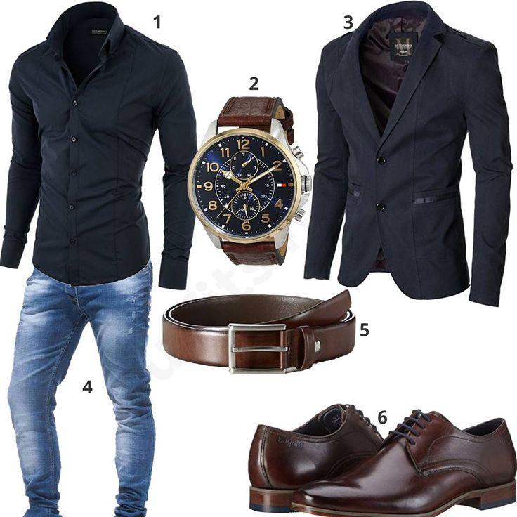 Stile business per uomo con camicia e giacca