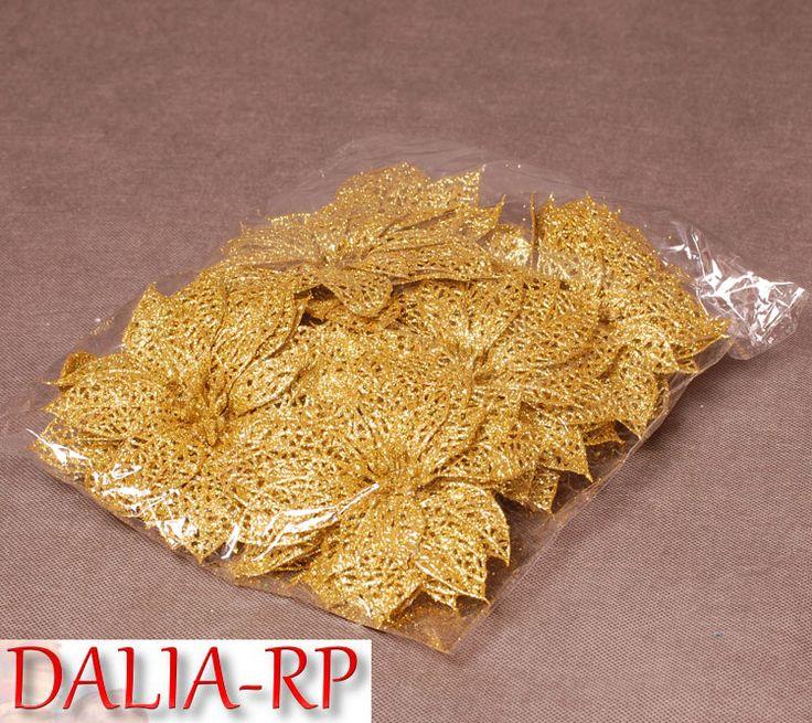 Poisencja ażurowa złota 24szt