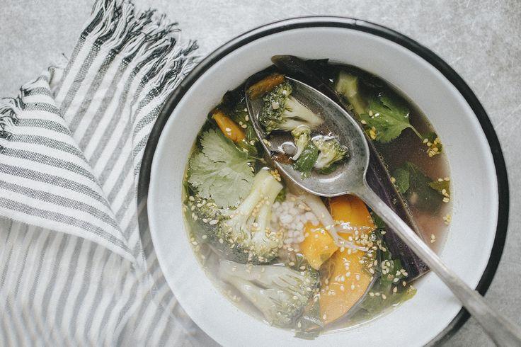 Bouillon aux légumes d'automne   1 Carnet 2 Notes