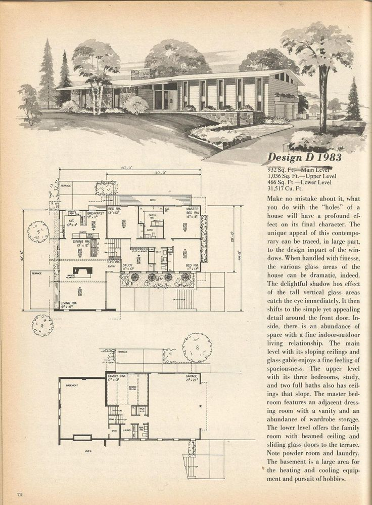 2854 best mid century modern home images on pinterest for 1970s house floor plans