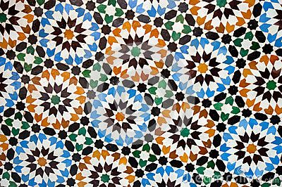 Moroccan tile background by Javarman, via Dreamstime