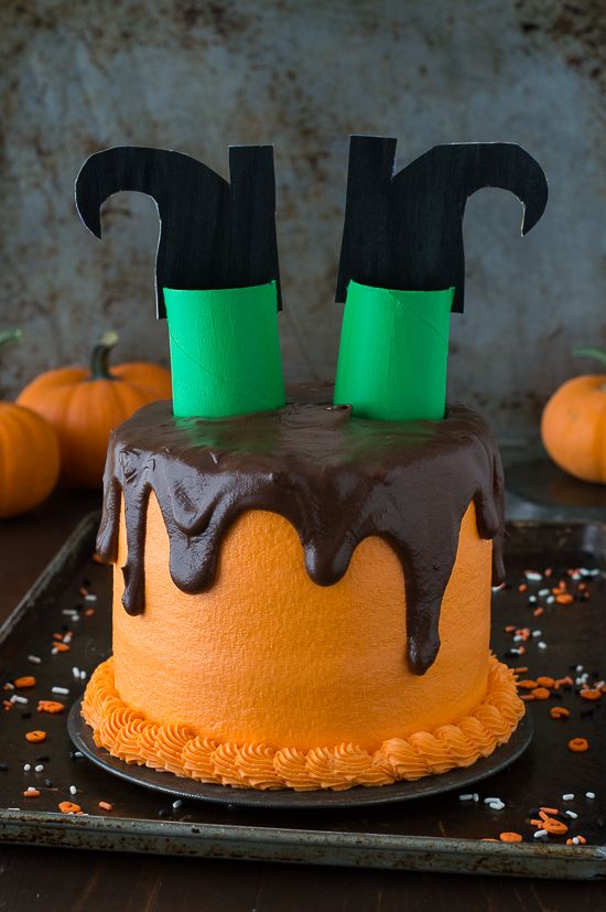melted witch cake - Easy Halloween Cake Decorating Ideas