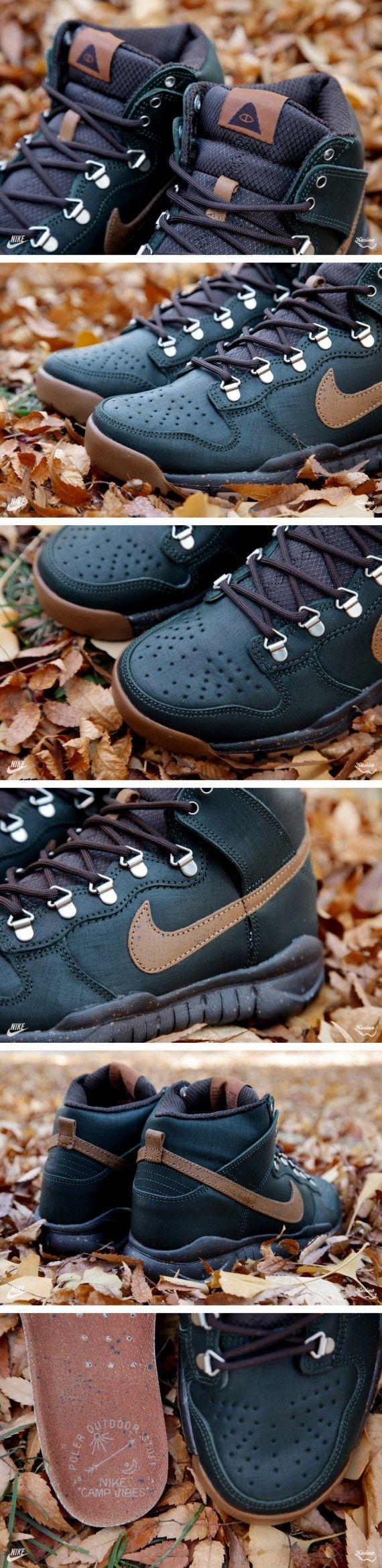 poler nike sb high oms 01 570x2338 Poler x Nike Dunk High OMS   Black Spruce   Classic Brown