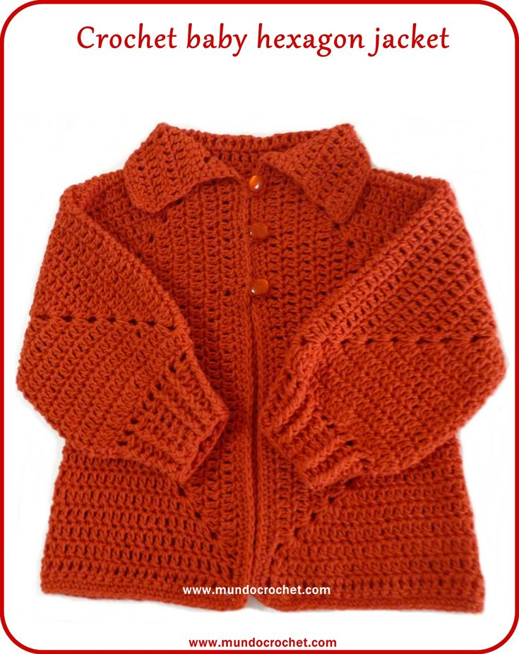 Crochet hexagon jacket/Crochet hexagon sweater-free pattern and tutorial. An ingenious design.