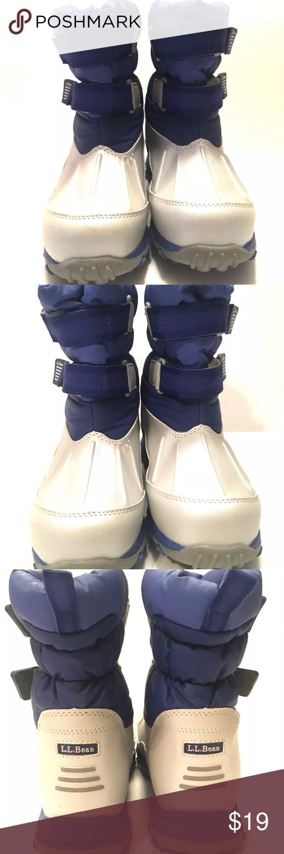 LL Bean Kids Snow Boots LL Bean  Kids Snow Boot  Like New Condition Double Strap Closure LL Bean Shoes Rain & Snow Boots
