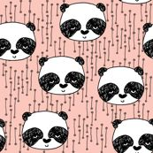 Panda - Pale Pink by Andrea Lauren fabric by andrea_lauren, click to view