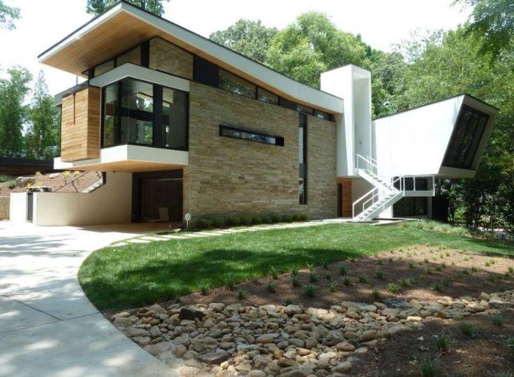 pierre de parement extérieur brute et revêtement de mur de maison par Cablick Enterprises