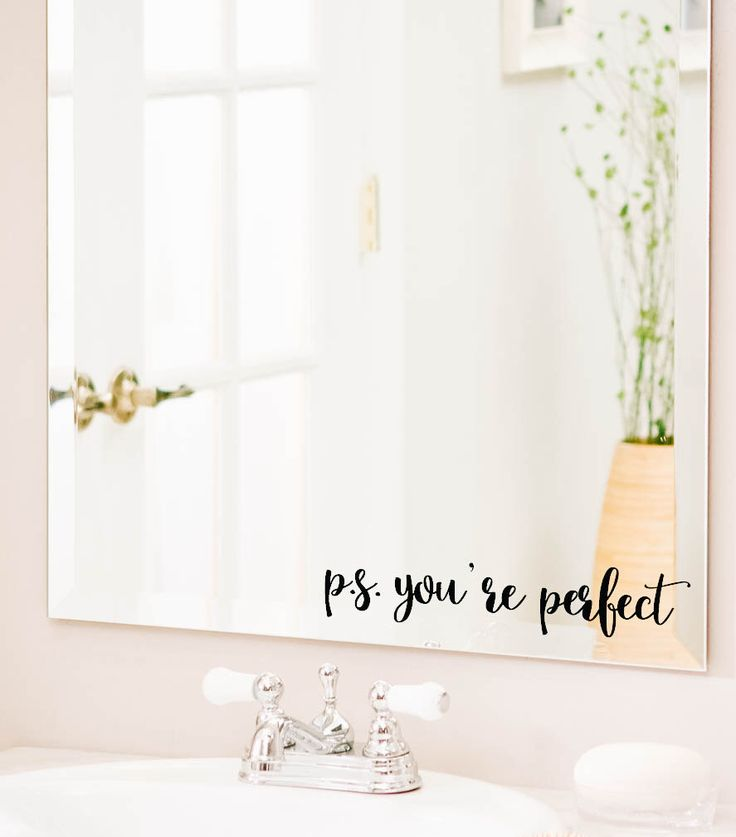 Best 20 wall decal quotes ideas on pinterest - Inspiring bathroom mirror design ideas find perfect one ...