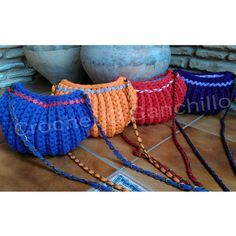 Crochet O Ganchillo: COLECCIÓN DE BOLSOS DE TRAPILLO HAPPY