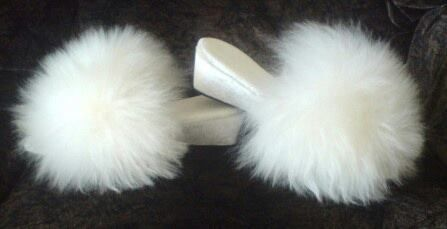 Fluffy Slippers. Every woman seemed to be wearing these back in the day.