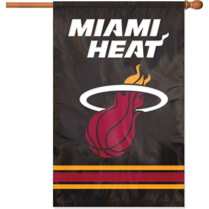 Party Animal Miami Heat Applique Banner Flag, Team