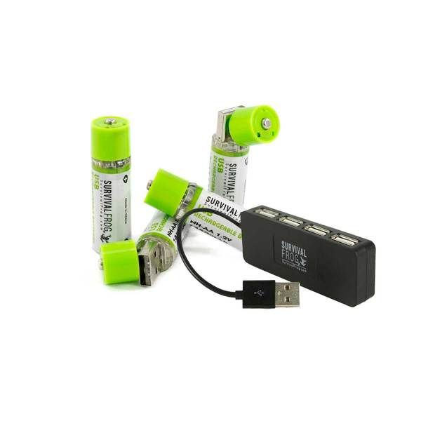 Easypower Usb Rechargeable Aa Batteries By Frog Co Usb Usb Rechargeable Recharge