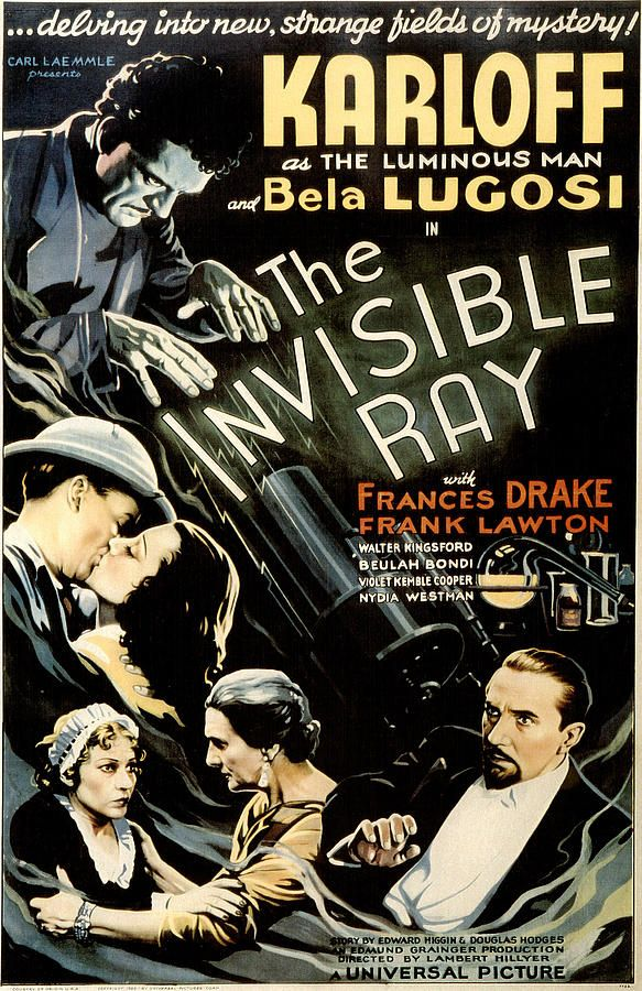 """The Invisible Ray"" with Karloff and Lugosi"