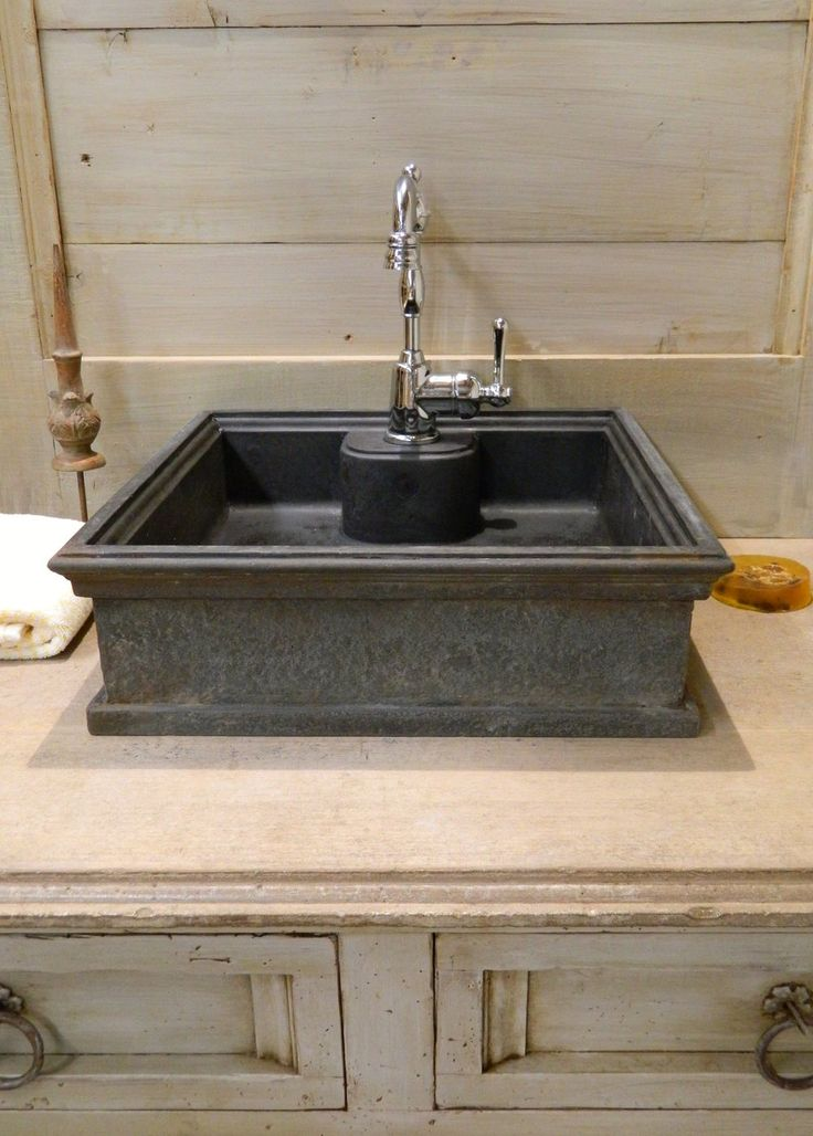 Cast iron looking concrete vessel sink from Atmosphyre ...