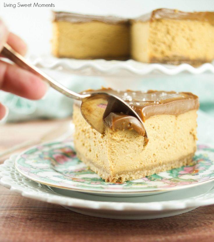Diese unwiderstehliche Instant Pot Dulce de Leche Käsekuchen Rezept ist cremig, lecker, süß, und so einfach zu machen!  Der perfekte Dampfkochtopf für alle