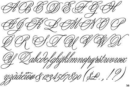 unusual bold script font styles | designer doyald young year 1984 copyright itc fontek publishers itc ...