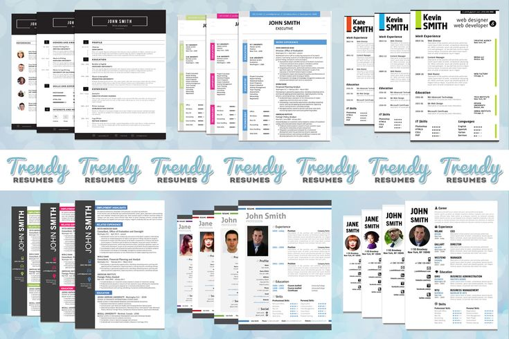 Professional, modern, creative resume templates for Microsoft Word Office