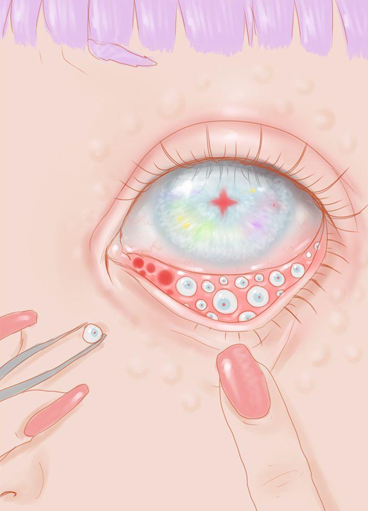 ' Eyes Gemma's got a bad case of eyeballitis hehe' by Saccstry