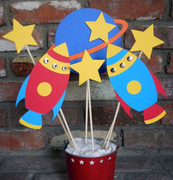 Rocket Ship Space Theme Astronaut Birthday by DianesPaperParty