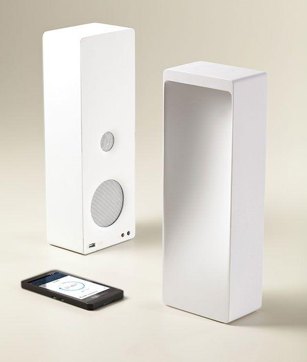 cromatica hybrid light speaker by digital habits on yankodesign