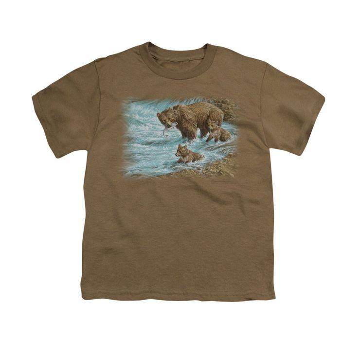 Wildlife - Alaskan Brown Bear Youth T-Shirt