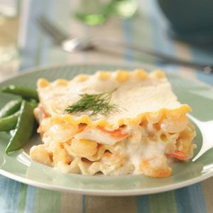 Seafood Lasagna Recipe from Taste of Home -- shared by Elena Hansen of Ruidoso, New Mexico