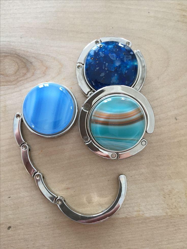 Porte-sac à main, bijou en verre et fusionné / fused glass