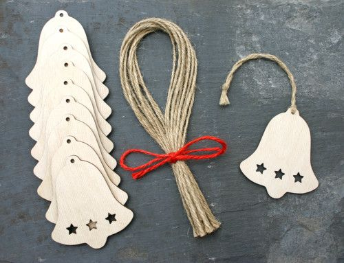 Wooden Bell Gift Tag Shape Christmas Decoration Garland | eBay