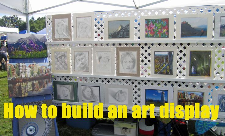 Here's a low cost method of creating a simple display to show your work at art and craft shows. I picked up a supply of heavy duty nylon zip-ties at a hardwa...