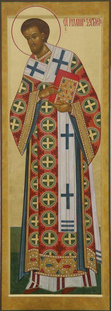 St. John Chrysostom - contemporary icon (Prosopon School)