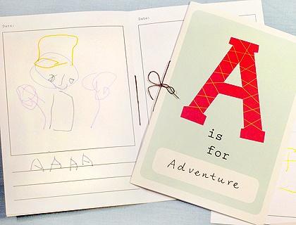 alphabet activity book...free printable!